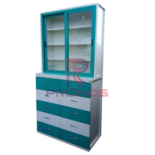 Medical Cabinet Top Sliding & Bottom Five Line Drawers-pridiyos